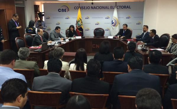 Foto: Twitter / CNE Ecuador