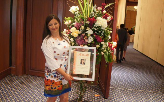 El reconocimiento 'Rosa de plata' fue para Juana Guarderas. Foto: Ecuavisa