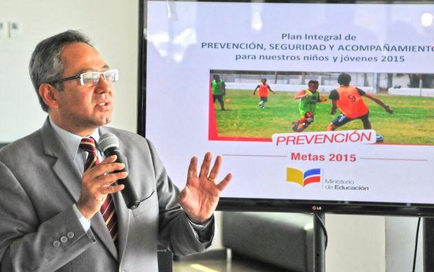 Ministro Augusto Espinosa. Foto: Ministerio de Educación