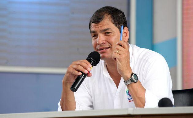 """Correa tildó de """"recaderos del poder mediático"""" a quienes criticaron las declaraciones del papa. Foto: FLICKR/Presidencia de Ecuador"""