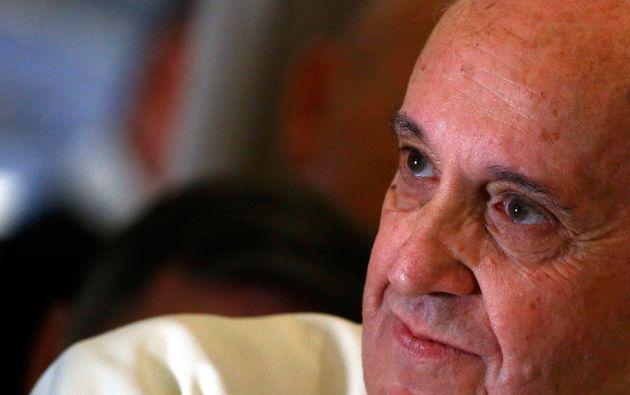 """El papa aseguró que no existe la familia perfecta, pero que """"no es una institución en crisis"""". Foto: REUTERS / Stefano Rellandini"""