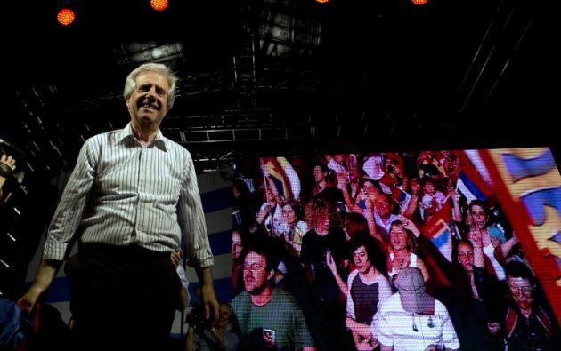 Tabaré Vázquez recibirá el mando el 1 de marzo. Foto: AFP