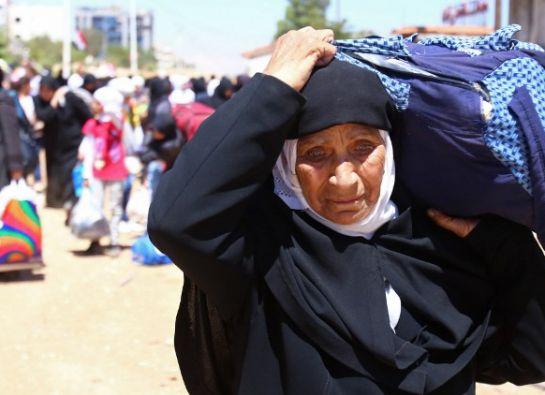 Más del 80% de los refugiados sirios son mujeres y niños.
