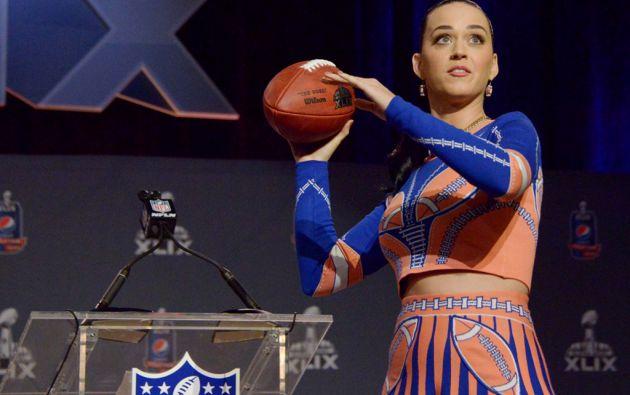 Katy Perry se presentará en el show de medio tiempo del Super Bowl. Foto: REUTERS