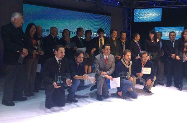 Todos los ganadores de los Premios Nacionales UNP. Foto: Twitter / Ecuador UNP