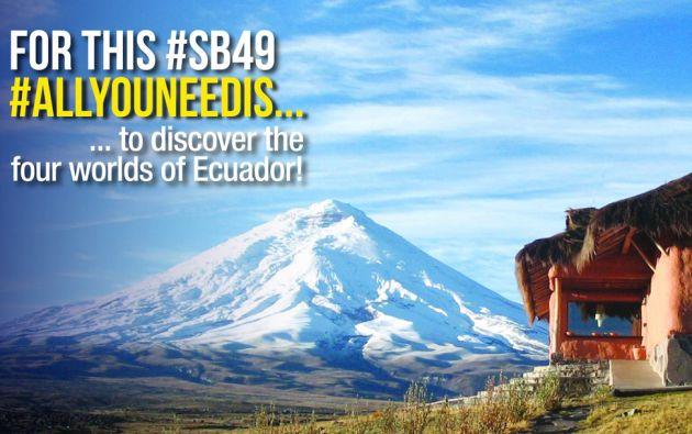 Ecuador se promocionará en el megaevento como destino turístico a través de un video de 30 segundos.