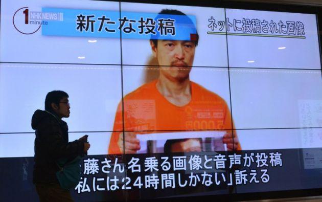 """Jaón condenó """"con la mayor firmeza"""" la ejecución de Kenji Goto, periodista independiente secuestrado en Siria. Foto: AFP / Kazuhiro Nogi"""