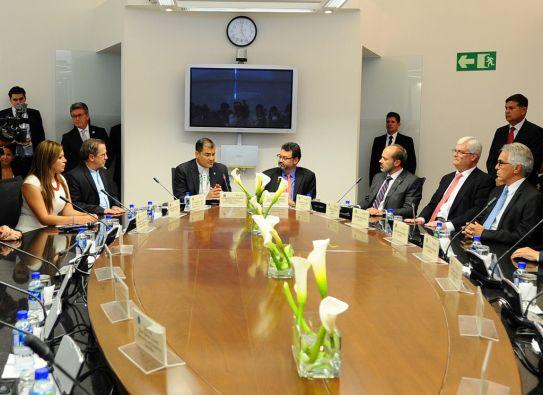 El presidente de Ecuador propone fortalecer la CorteIDH brindándole suficiente presupuesto y aumentando su personal. Foto: FLICKR/Presidencia de Ecuador