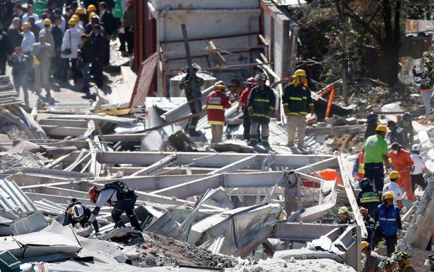 La explosión ocurrida el pasado jueves fue ocasionada por una fuga de gas en una manguera de un camión. Foto: REUTERS