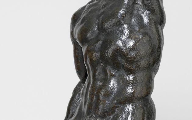 Detalle de una de las figuras de bronce.  Foto: University of Cambridge