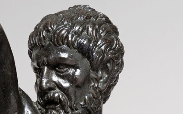 Una de las figuras de bronce que podría ser de autoría de Miguel Ángel. Foto: University of Cambridge