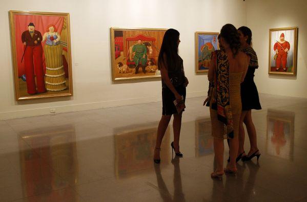 Botero creó esta serie después de encontrarse un circo popular en México, donde vivió a mediados de los 50. Foto: REUTERS