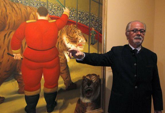 """""""Presenta mucha poesía, mucho color, mucho movimiento"""", dice Fernando Botero sobre el espectáculo circense. Foto: REUTERS"""