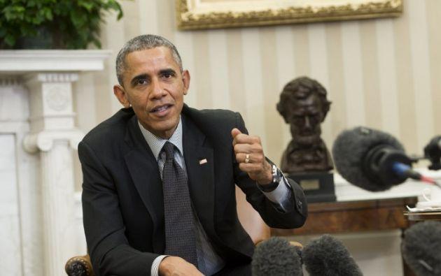 Barack Obama habla sobre la reforma migratoria durante una reunión con jóvenes inmigrantes en la Casa Blanca. Foto: AFP