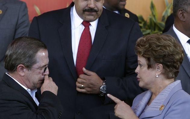 Nicolás Maduro, Ricardo Patiño, y Dilma Rousseff el 28 de enero pasado durante la CELAC. Foto: REUTERS