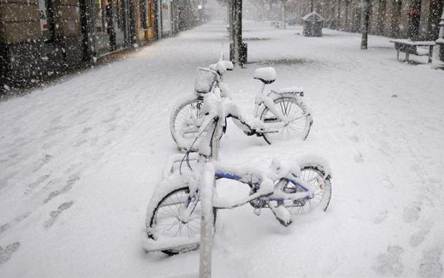 Las temperaturas están bajo cero. Foto: Ecuavisa.com