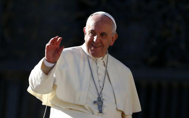 El papa Francisco, en el Cuadrado De San Pedro, en el Vaticano. Foto: REUTERS