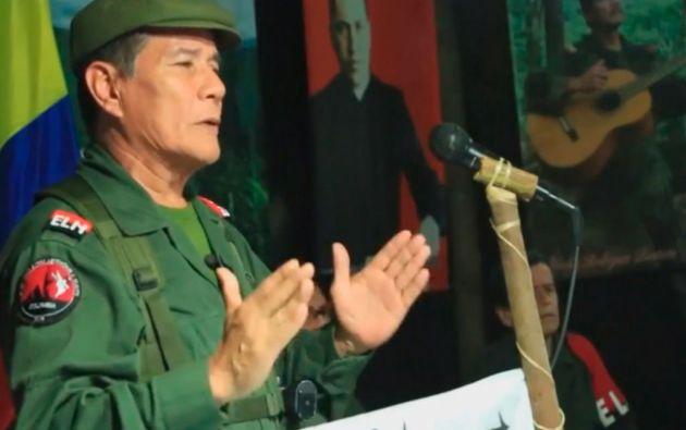 """Nicolás Rodríguez Bautista, alias """"Gabino"""", líder del ELN."""
