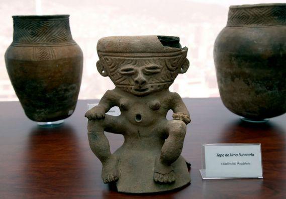 Las piezas arqueológicas pertenecen al asentamiento prehispánico Río Magdalena. Foto: Cancillería de Ecuador