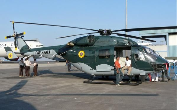 La FAE adquirió en 2008 siete helicópteros Dhruv a la empresa HAL. Foto: Archivo