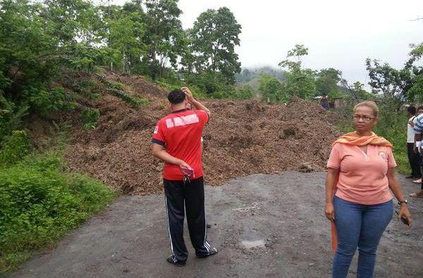 Habitantes de ese sector están incomunicados. Foto: Gobernadora de Esmeraldas