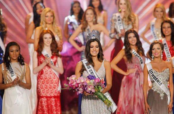 Paulina Vega el día de la elección a Miss Universo. Foto: AFP