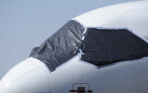 Cubren a los aviones de la ceniza. Foto: AFP