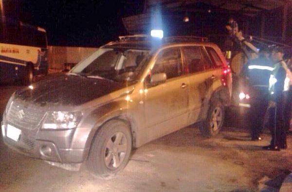 El carro en el que paso el accidente. Foto: Fiscalía Ecuador
