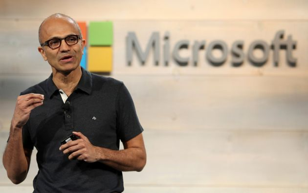Hace ya un año, Satya Nadella sustituyó a Steve Ballmer en la dirección general de Microsoft. Foto: REUTERS