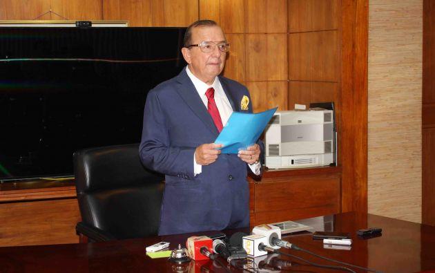 Noboa dio una rueda de prensa para aclarar el caso. Foto: Álvaro Noboa