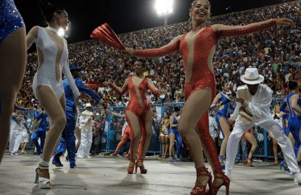 La samba es un baile tradicional de esa ciudad. Foto: AFP
