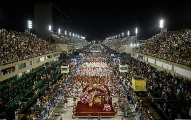 Desfile de Carnaval. Foto: AFP