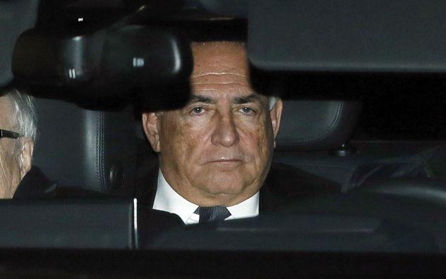 Strauss-Kahn deja la corte luego del primer día de juicio en Lille, el pasado 2 de febrero. Foto: REUTERS