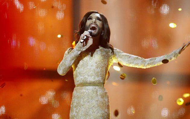 Conchita Wrust cuando ganó Eurovisión. Foto: Archivo