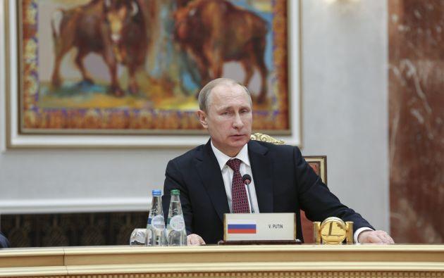Putin tomò parte en las conversaciones de paz para resolver la crisis ucraniana.