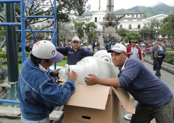 Se busca conservar las características originales con las que fueron colocadas hace más de 40 años. Foto: Quito Alcaldía