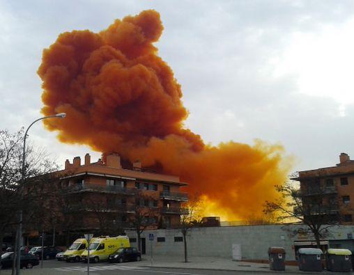 Una explosión de ácido nítrico tuvo lugar en la localidad de Igualada. Foto: REUTERS