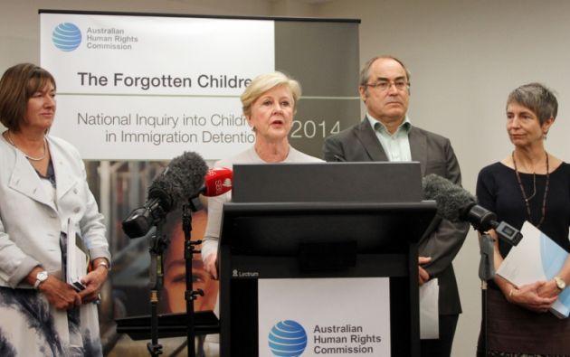 Miembros de la Comisión Australiana de Derechos Humanos en el lanzamiento del reporte. Foto: www.humanrights.gov.au