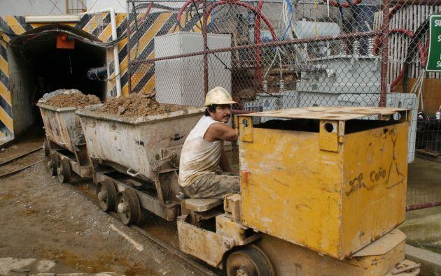 El área minera estaba a cargo de la cartera de Recursos No Renovables. Foto: Archivo Vistazo