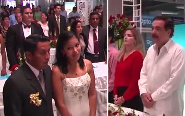 Desde hace varios años el alcalde de Guayaquil oficia una boda masiva por San Valentín.