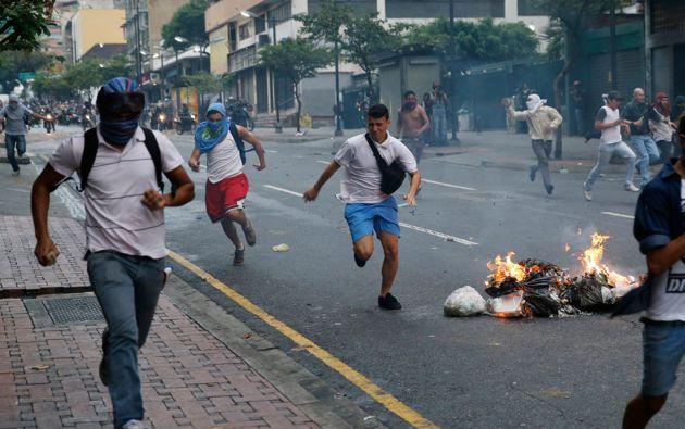 Los disturbios en Caracas culminaron con varios detenidos. Foto: REUTERS
