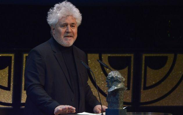 Almodóvar durante la entrega de los Premios Goya. Foto: AFP