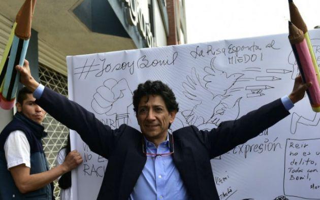 """El caricaturista Xavier Bonilla """"Bonil"""" negó las denuncias de racismo. Foto: AFP"""