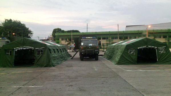 Los campamentos militares atenderán emergencias de medida y baja complejidad. Foto: IESS / Guayas