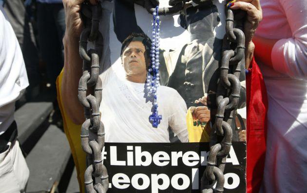 La entrevista con López fue grabada el pasado 8 de febrero desde la cárcel de Ramo Verde. Foto: REUTERS