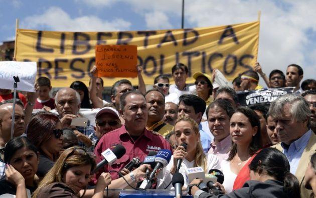Lilian Tintori asistió a la marcha. Foto: AFP