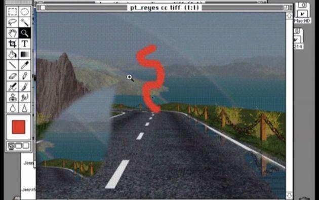 Así lucía Photoshop en un demo hace 25 años.