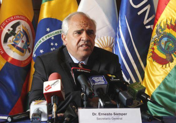 Según Samper, la visita de la Unasur a Venezuela se realizaría la próxima semana. Foto: Unasur