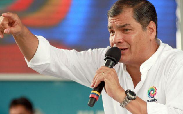 """Lamento si por ahí ha habido un exceso. Lo rechazamos totalmente"", dijo Correa. Foto: Presidencia de Ecuador"