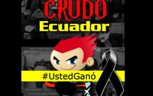 """El administrador de """"Crudo Ecuador"""", cuya identidad se mantiene en el anonimato, anunció el cierre de esa cuenta tras amenazas."""